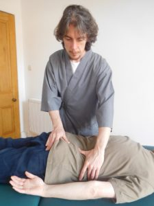 Bowen therapy on a patient in Glasgow