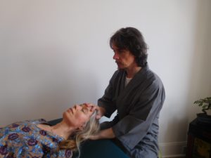 Patient receiving Craniosacral therapy in Glasgow